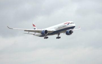 British Airways A350 Arrival