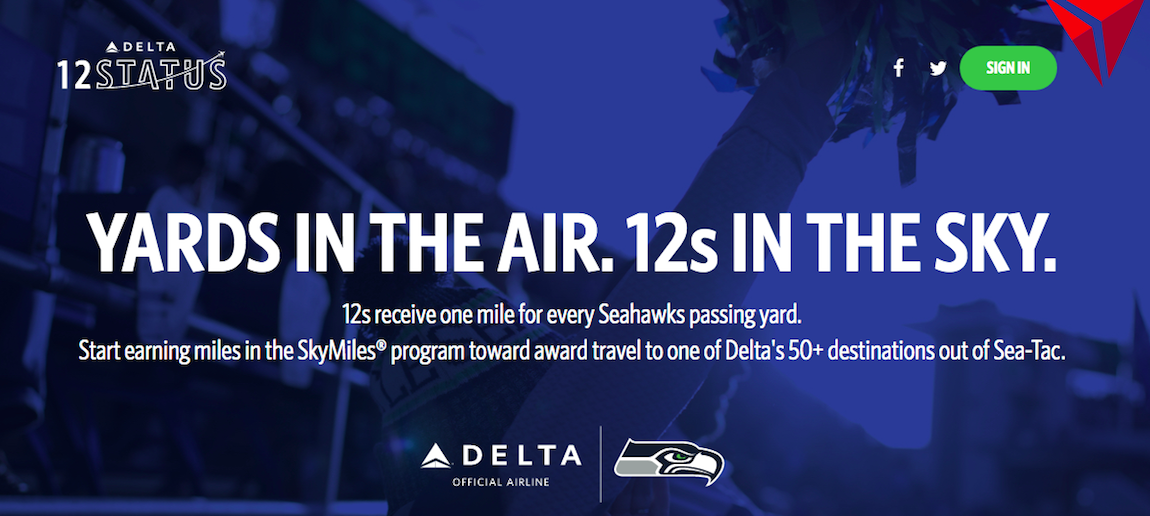Free Delta SkyMiles For Seahawks Fans | One Mile at a Time