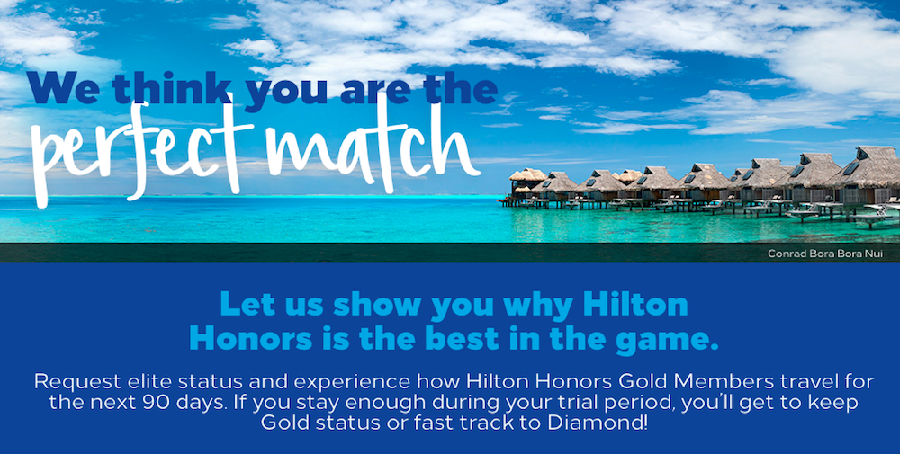 Hilton Honors Adjusts Status Match Program | One Mile at a Time