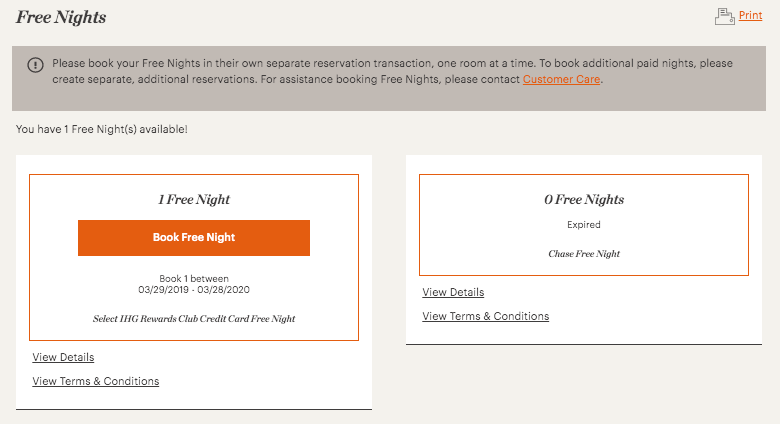 How To Redeem IHG Card Free Night Certificate   One Mile at
