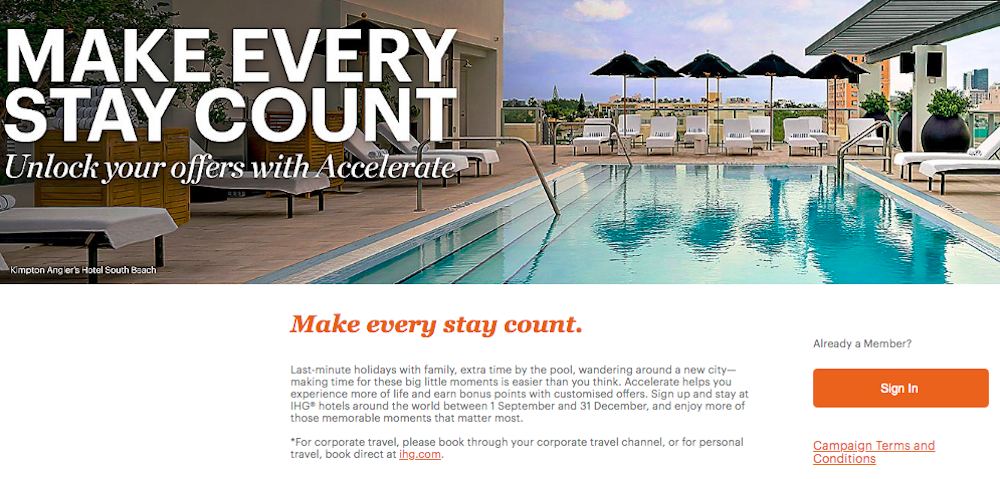 Register For IHG's Fall 2019 Accelerate Promotion