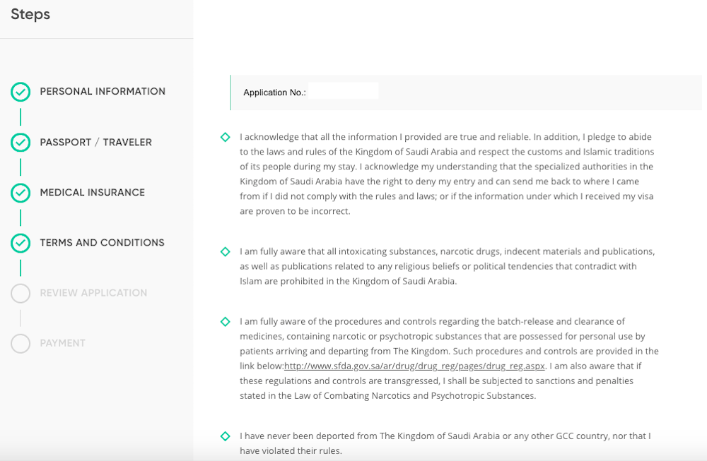 How To Fill Out Saudi Arabia E Visa Application One Mile At A Time