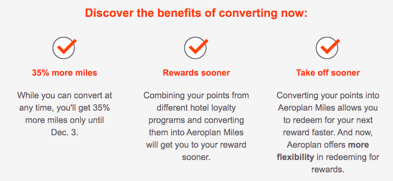 Transfer Hotel Points To Aeroplan With 35% Bonus | One Mile at a Time