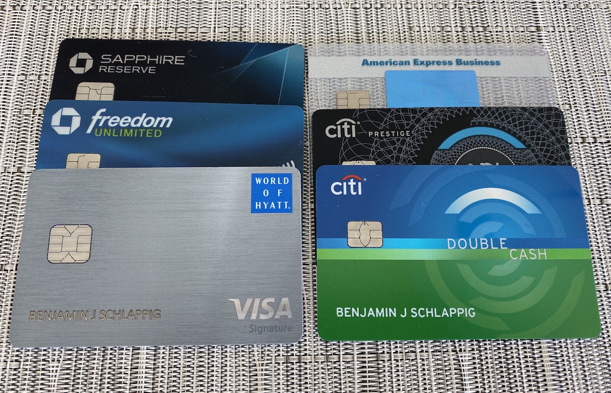 credit cards used