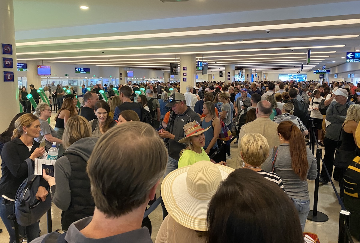 Cancun Airport Immigration Mess | One Mile at a Time