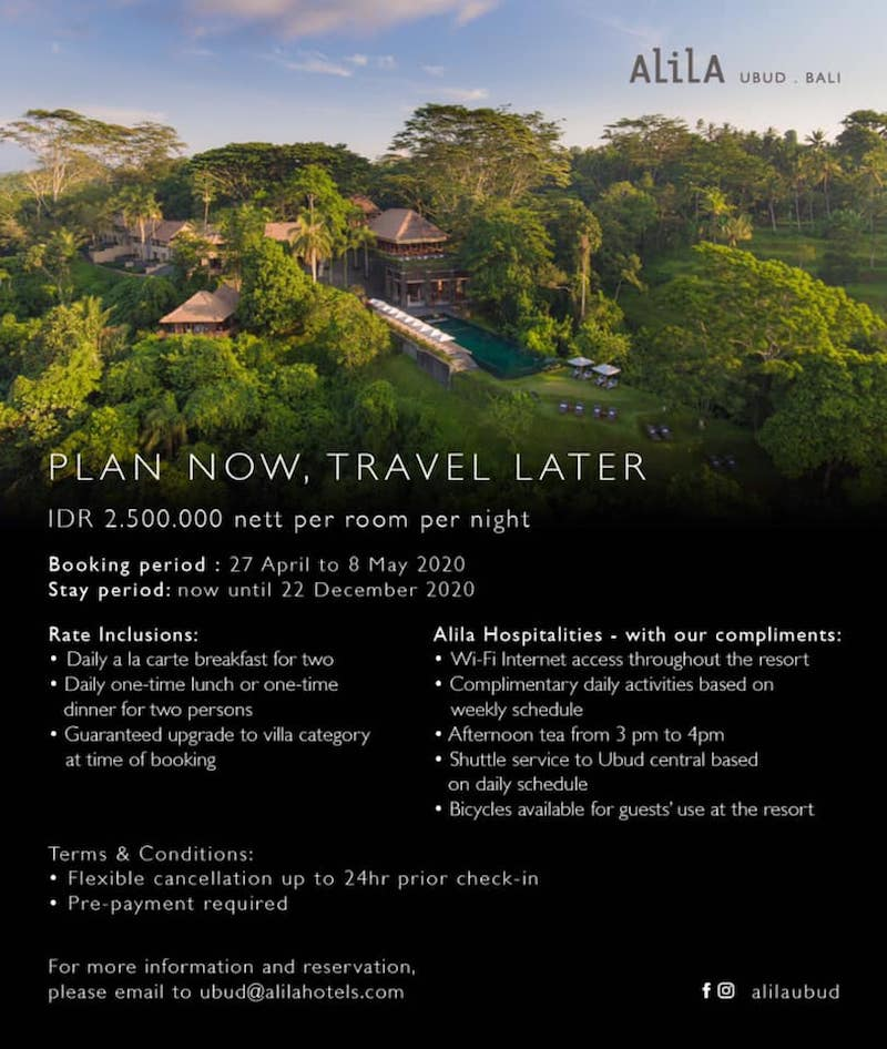 Alila Ubud Bali Get An Epic Deal If You Pre Pay One Mile At A Time