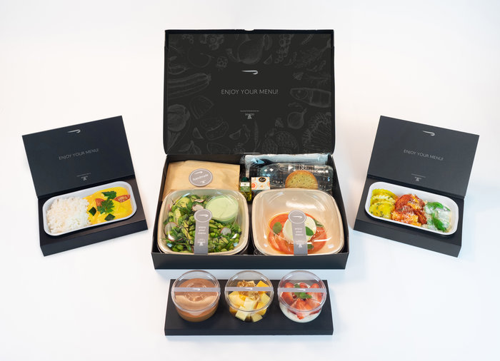 British Airways First Class Meal
