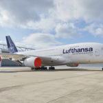 A380 D Aimb Lht Frankfurt Geparkt Mit Engine Cover