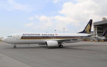 Singapore Airlines 737