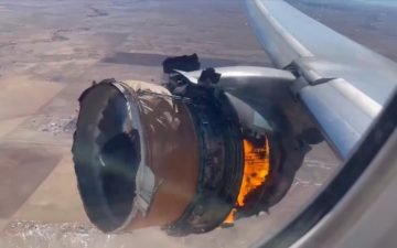 United Airlines Engine Failure