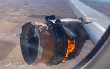 United Airlines Engine Failure
