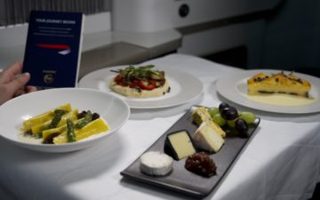 British Airways First Class Meal 1