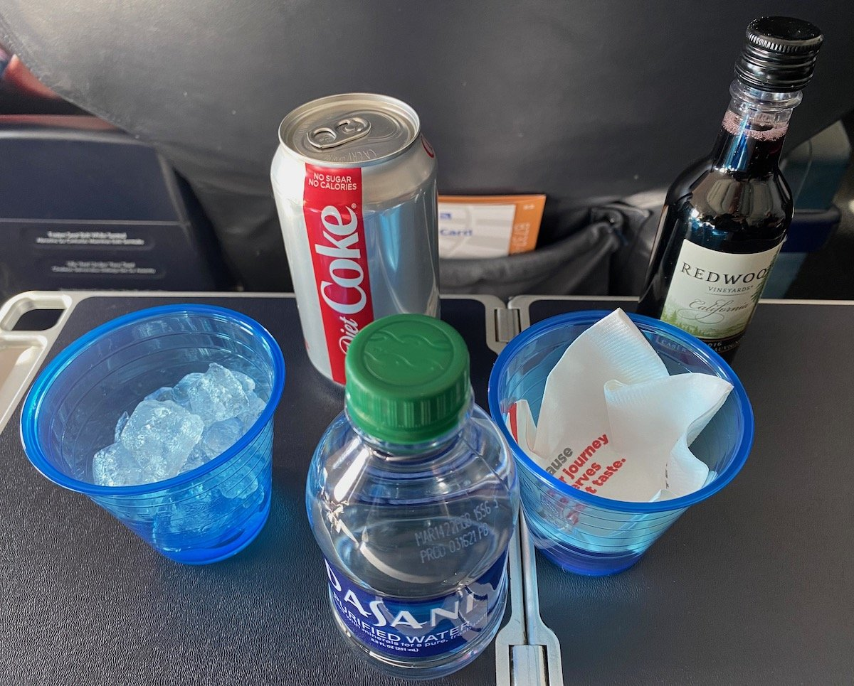 United Airlines First Drinks
