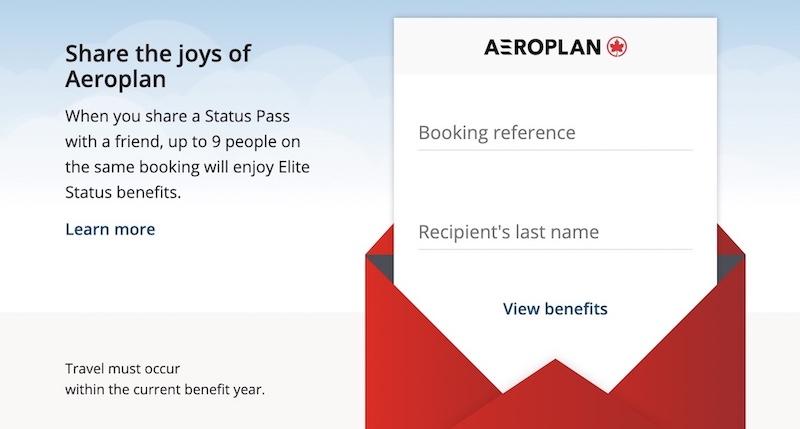 aeroplan status pass